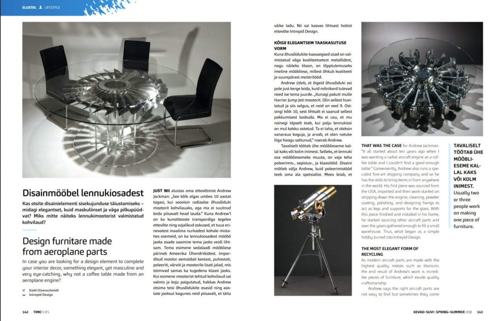 Intrepid Featured in Nordica In-flight Magazine