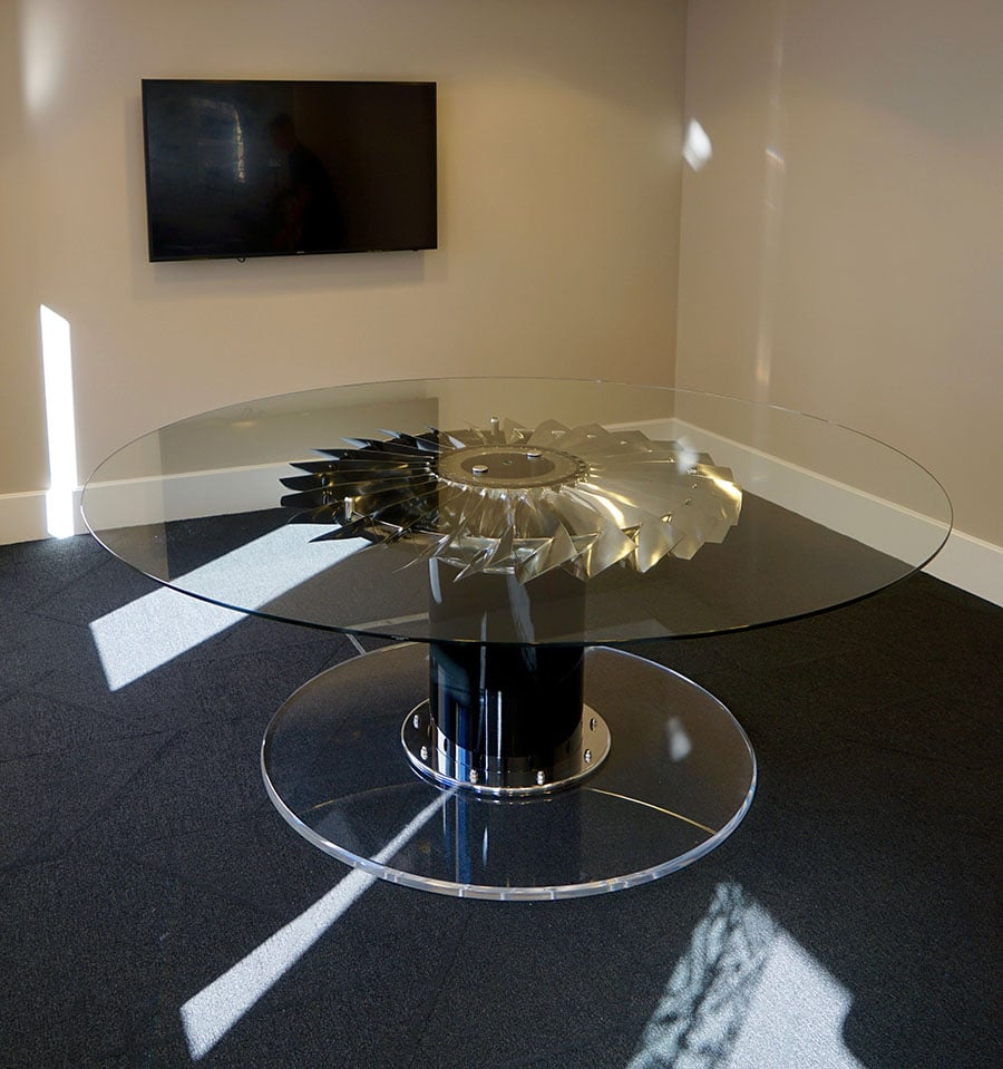 RAF Harrier Jet Aircraft boardroom table