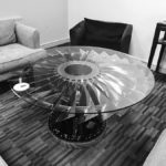 Pegasus LP1 Fan Blade Coffee Table