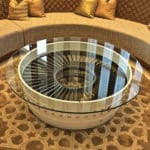 White Pegasus Front LP Casing Coffee Table