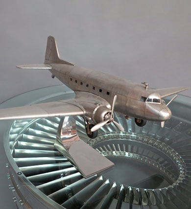Douglas DC-3 Aircraft Full Metal Model