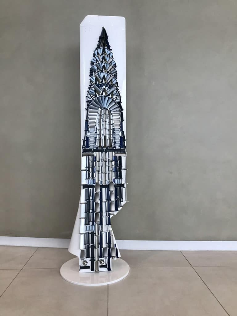Puma Blades 'Chrysler Building' Sculpture by Emily Jackman