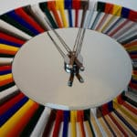 Rolls Royce Harrier Mirror Multi-Coloured Clock