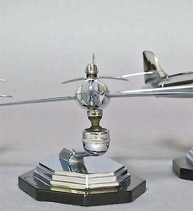Vintage Retro Chrome Jet Airplane Table Lighter- Gala Sonic