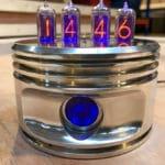 """Jacobs Radial Engine """"Nixie"""" Piston Clock"""