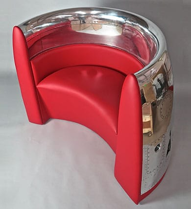 Red jet cowling chair
