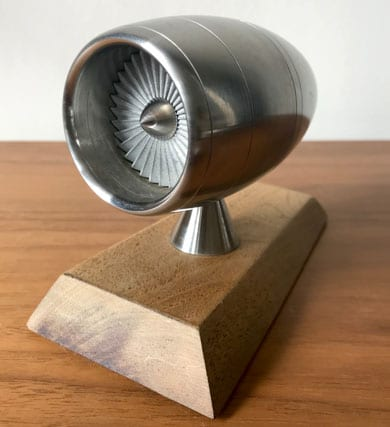 Engineers Model of Jet Turbine in Cowling