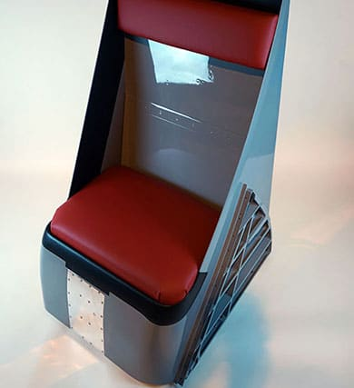Chair made from Tornado Jet ZD847 air intake