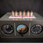 Triple Aircraft instrument Nixie Cloc