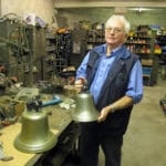 Warmwell Station Scramble Bell in workshop