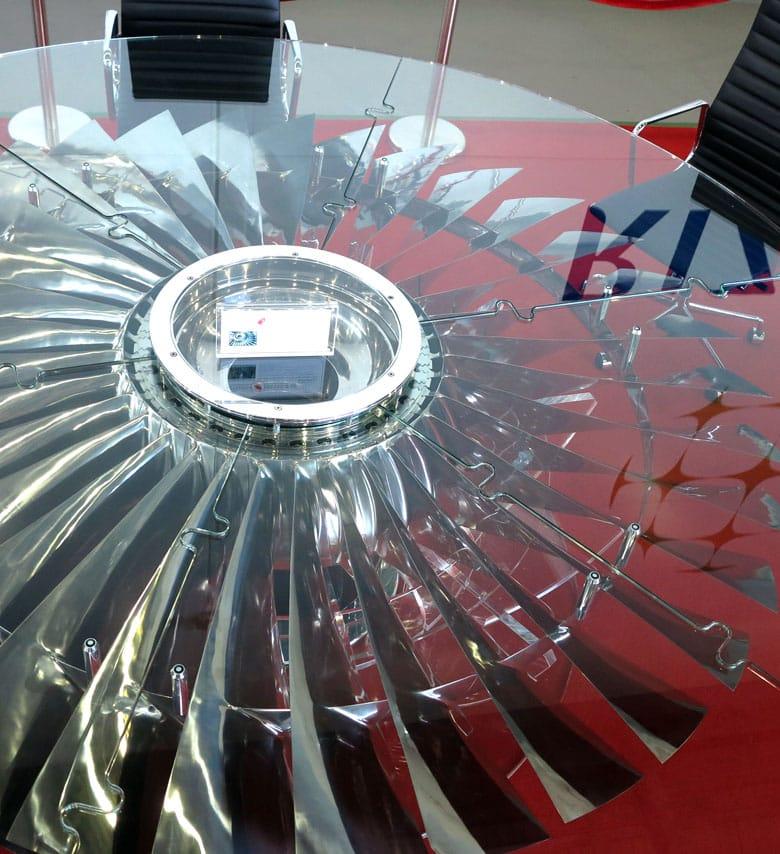 747 fan blade boardroom table