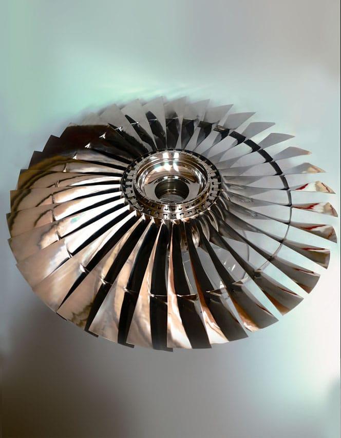 747 fan blade centre table