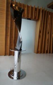Fan Blade sculpture at Gatwick