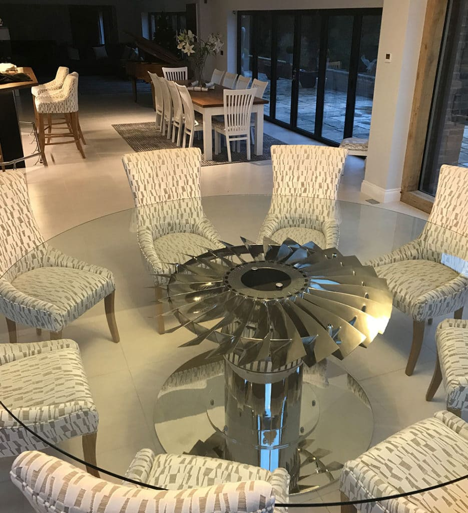 Sea Harrier Jump Jet LP1 Fan Blade Boardroom table