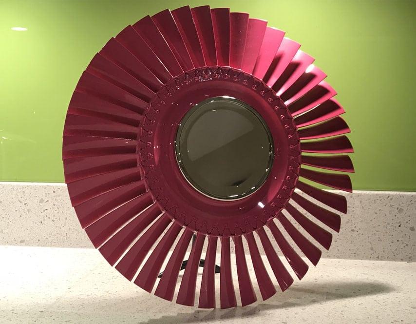 Pink Turbomeca Vanity Mirror