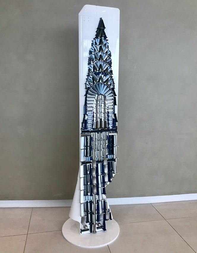 Puma Blades 'Chrysler Building' Sculpture