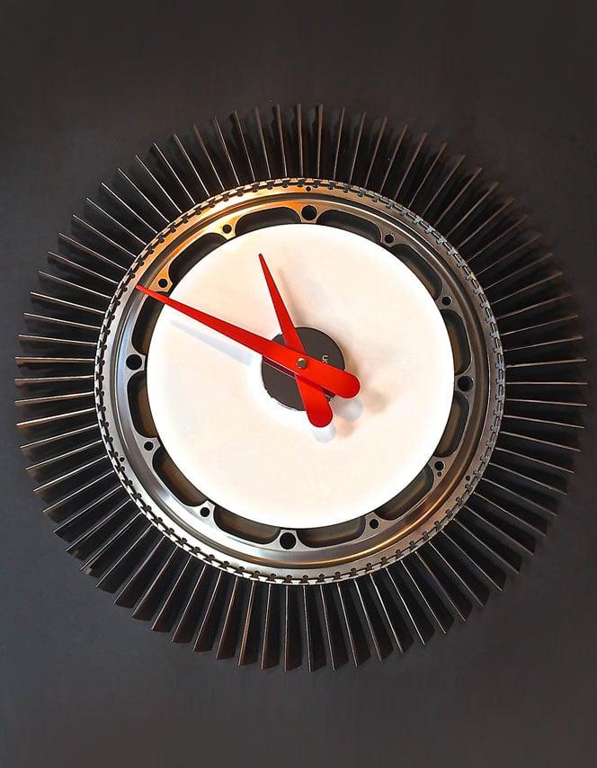 White Pegasus Sea Harrier Jump Jet clock
