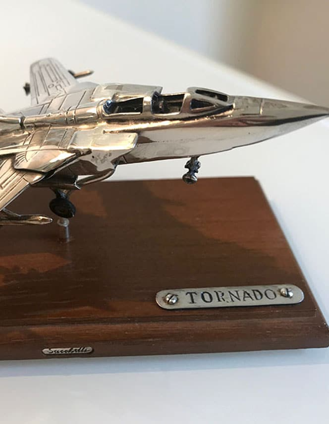 chrome model of tornado jet