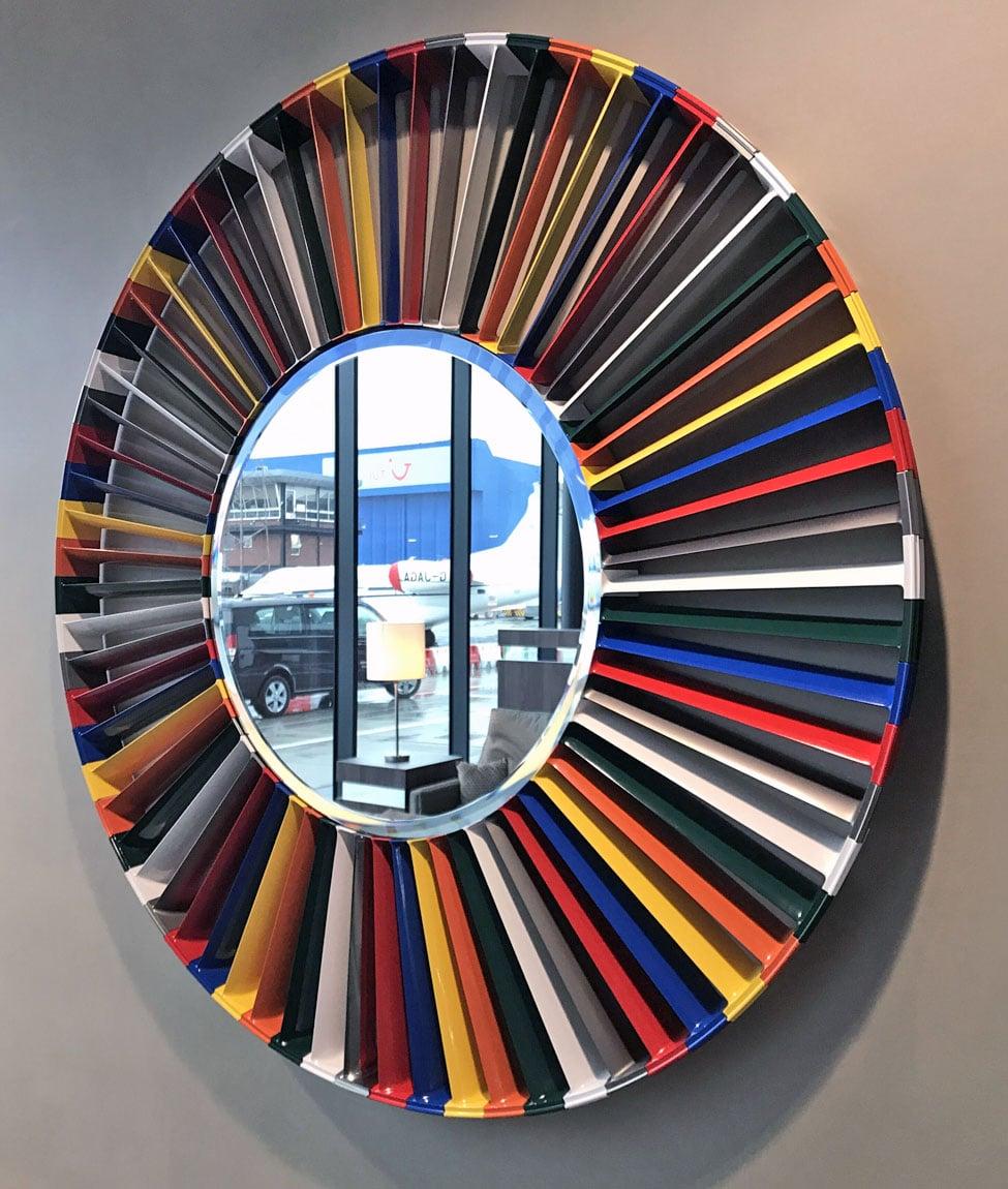 multi-colour harrier mirror