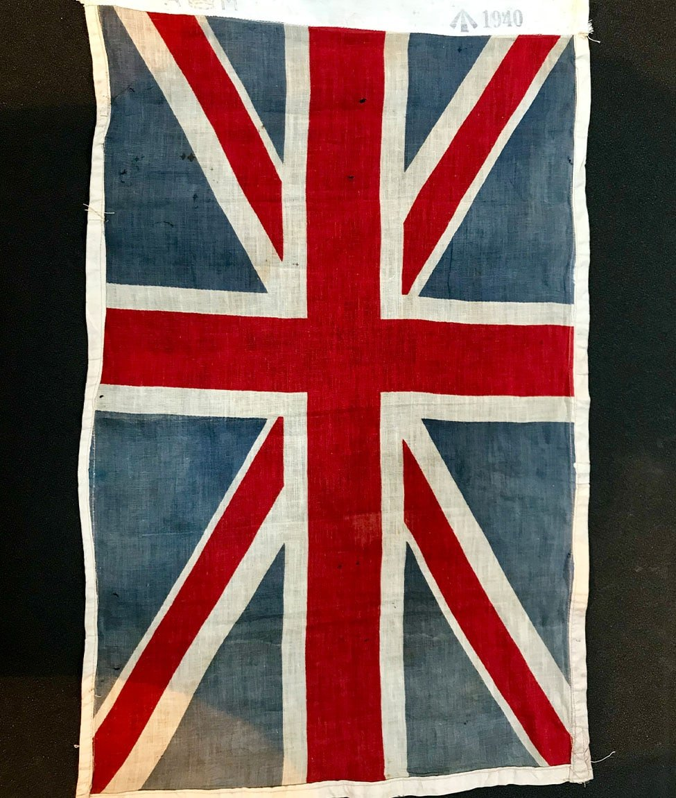 Air Ministry Stamped Linen Union Jack Flag