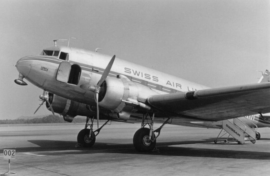 DC-3 of Swissair