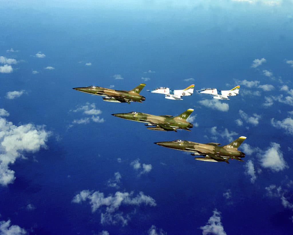 Three_F-10 Thunderchief jets