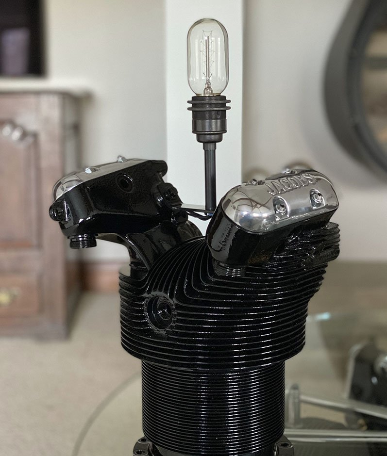 Jacobs Radial engine table light