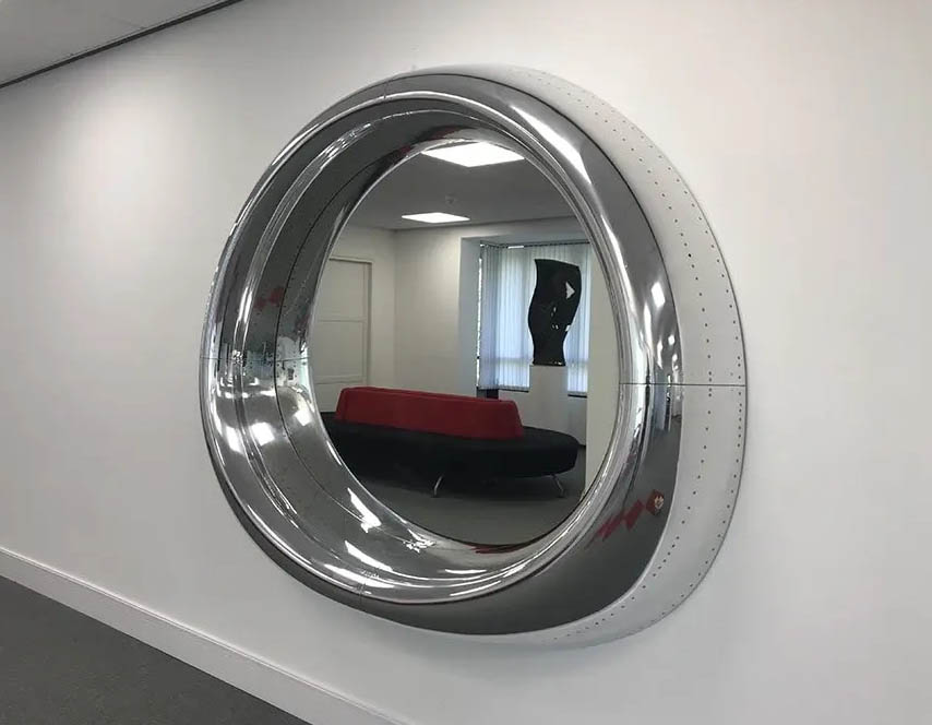 737 window cowling mirror